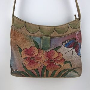 Handbags - Anna by Anushka Hand Painted Leather Bag